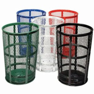 48 Gallon Galvanized Expanded Metal Outdoor Trash Receptacle (WITT-EXP-52)