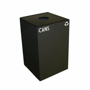 Witt 32 gal. Recycling Container, Charcoal, Round Opening Top (WITT-32GC01-CB)