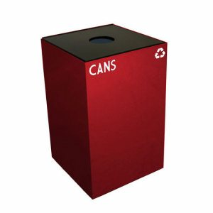 Witt 24 gallon Recycling Container, Scarlet Red, Round Top (WITT-24GC01-SC)
