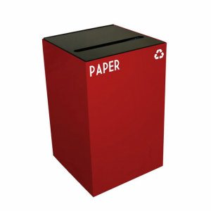 Witt 24 gal. Recycling Container, Scarlet Red, Slot Opening Top (WITT-24GC02-SC)
