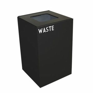 Witt 28 gal. Recycling Container, Charcoal, Square Opening Top (WITT-28GC03-CB)
