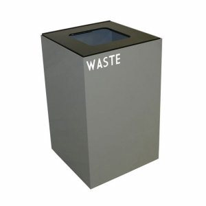 Witt 24 gal. Recycling Container,  Slate, Square Opening Top (WITT-24GC03-SL)