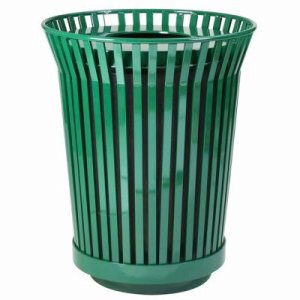 Witt 36 gal. Green Trash receptacle and flat top lid - River City Series (WITT-RC3610-FT-GN)