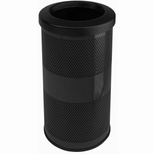 10 Gallon Outdoor Trash Can w/ Flat Top Lid, Black (WITT-SC10-01-FT-BB)