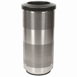 10 Gallon Trash Can, Stainless Steel with Flat Top Lid (WITT-SC10-01-SS)