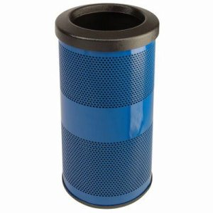 20 Gallon Trash Can, Stadium Series, Blue with Flat Top Lid (WITT-SC20-01-FT-BS)