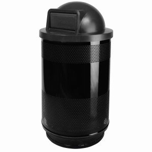 55 Gallon Trash Can w/ Dome Top Lid, Black (WITT-SC55-01-DT-BB)