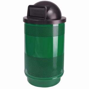 55 Gallon Trash Can w/ Dome Top Lid, Green (WITT-SC55-01-DT-GN)