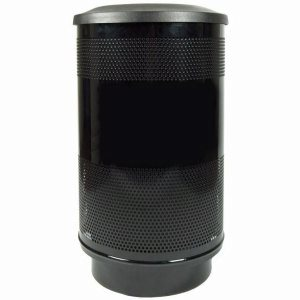 55 Gallon Trash Can, Stadium Series, Black w/ Flat Top Lid (WITT-SC55-01-FT-BB)