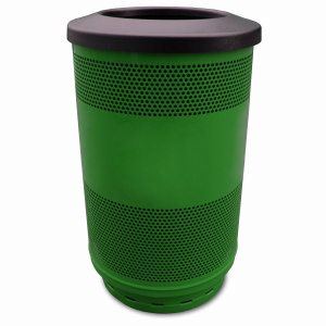 55 Gallon Trash Can, Stadium Series, Green w/ Flat Top Lid (WITT-SC55-01-FT-GN)