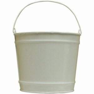 Witt 10 qt. Powder Coated White Gloss Pail, 8 Pails (WITT-W10PCGW)
