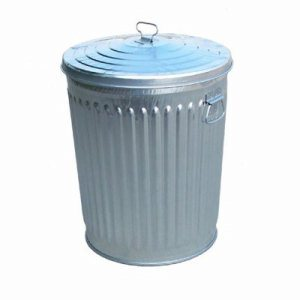 Witt 24 gal. Galvanized Trash Can and Lid - Galvanized Cans & Lids (WITT-WCD24CL)