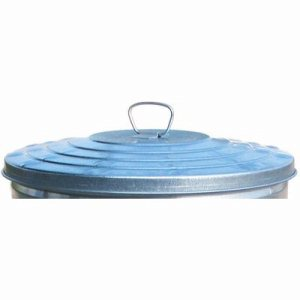 32 Gallon Galvanized Trash Can Lid, Light Duty, Metal (WITT-WCD32L)