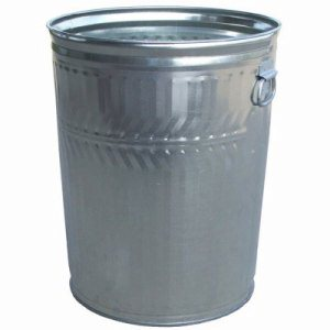 Witt 32 gal. Galvanized Trash Can - Galvanized Can (WITT-WHD32C)