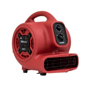 XPOWER P-230AT 1/5 HP Mini Mighty Air Mover, Red, 1 Each (P-230AT-Red)