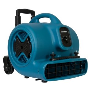 XPOWER P-630HC Air Mover, Telescopic Handle, Wheels, Clamp, 1 Each (P-630HC)