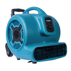 XPOWER X-830H Air Mover, Telescopic Handle and Wheels, 1 Each (X-830H)