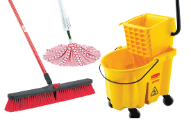 Mops, Brooms, Brushes & Dusters