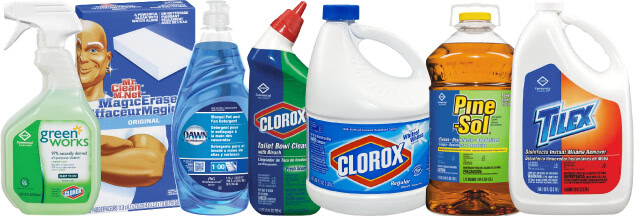 cleaning supplies needed for school dorms