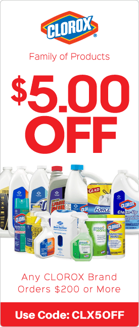$5.00 off any Clorox brand orders $200 or more
