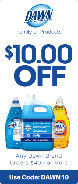 $10.00 off any Dawn brand orders $400 or more