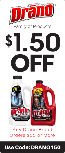$1.50 off any Drano brand orders $55 or more