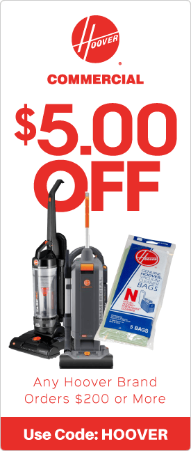 $5.00 off any Hoover brand orders $200 or more