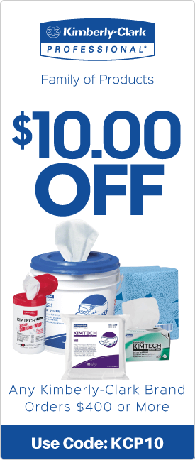 $10.00 off any Kimberly-Clark brand orders $200 or more