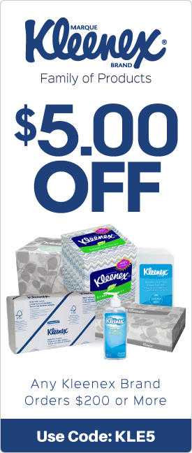 $5.00 off any Kleenex brand orders $200 or more
