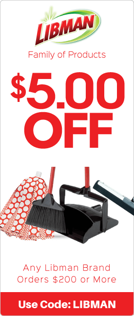$5.00 off any Libman brand orders $200 or more