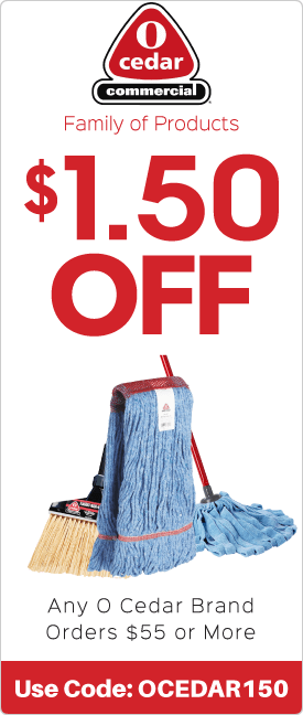 $1.50 off any O Cedar brand orders $55.00 or more