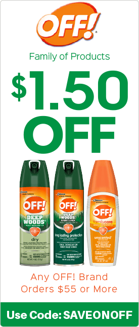$1.50 off any OFF! brand orders $55.00 or more