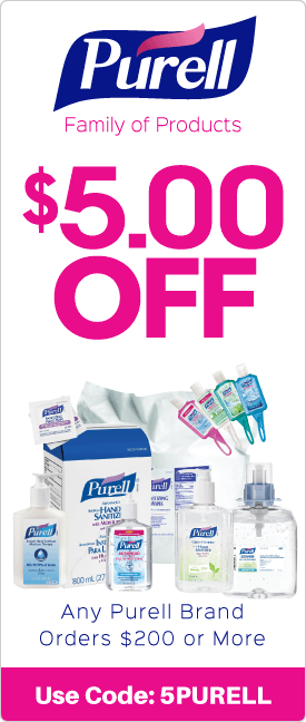 $5.00 off any Purell brand orders $200 or more