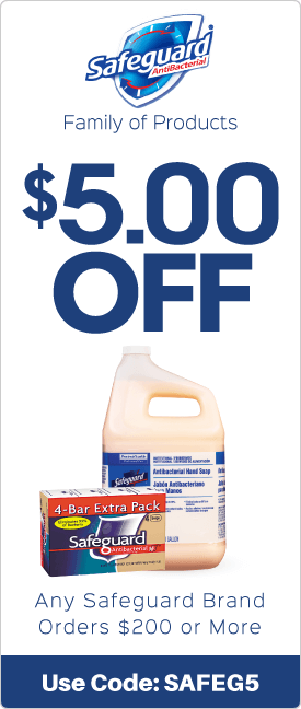 $5.00 off any Safeguard brand orders $200 or more