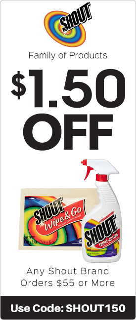 $1.50 off any Shout brand orders $55.00 or more