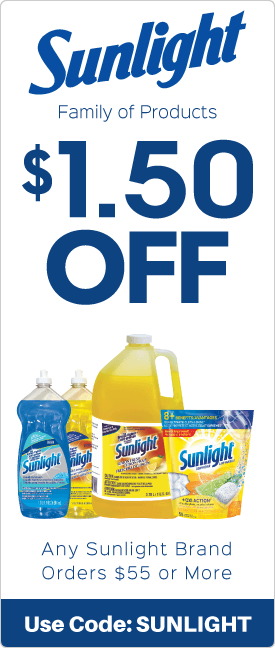 $1.50 off any Sunlight brand orders $55.00 or more