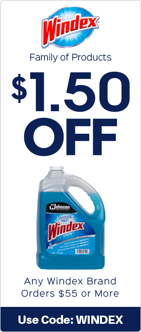 $1.50 off any Windex brand orders $55.00 or more