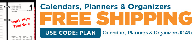 FREE Shipping On Calendars, Planners & Organizers