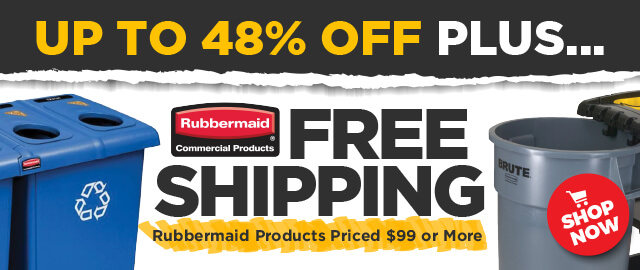 Rubbermaid Free Shipping